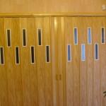 Fa eres színű harmónika ajtó